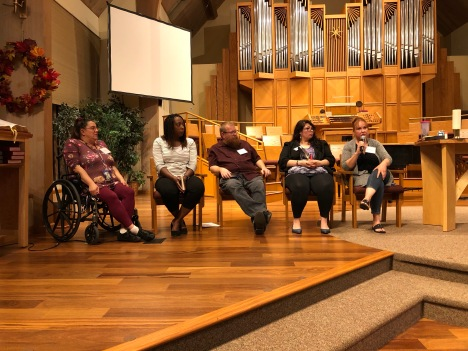 Panelists on Homelessness Forum